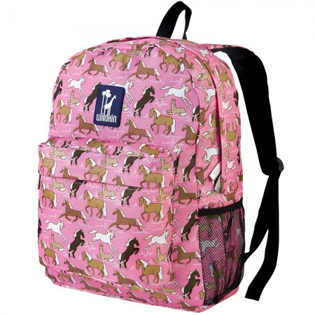 Horses in Pink 16 Inch Backpack