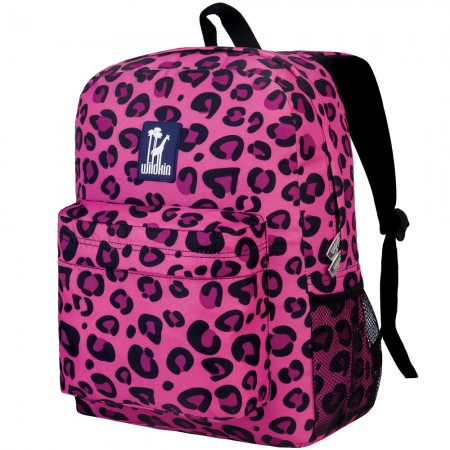 Pink Leopard 16 Inch Backpack