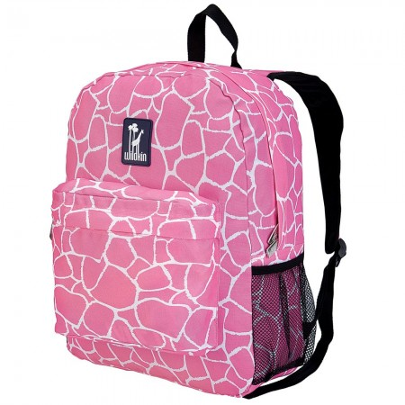 Pink Giraffe 16 Inch Backpack