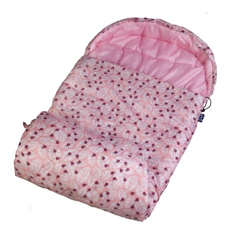 Lady Bug Pink Stay Warm Sleeping Bag