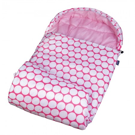 Big Dot Pink & White Stay Warm Sleeping Bag