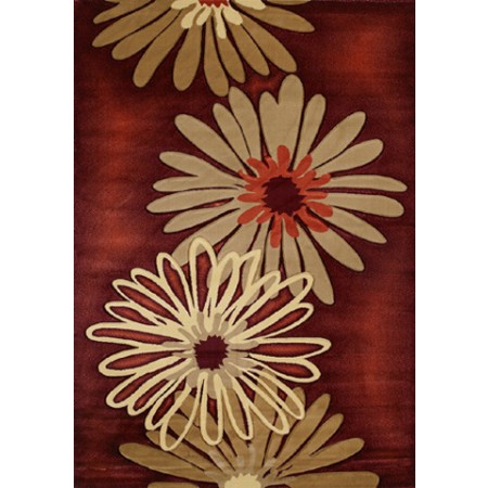 Dahlia Terracotta Area Rug - Transitional Style Area Rug