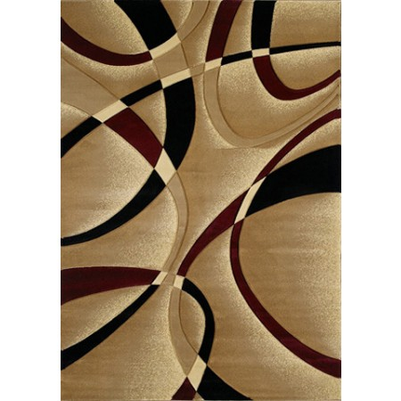 "La Chic Burgundy Area Rug (63"" X 90"")"