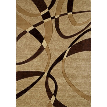 La Chic Chocolate Area Rug - Geometric Style