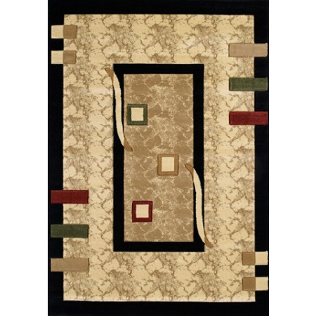 Marquette Onyx Area Rug - Transitional Style