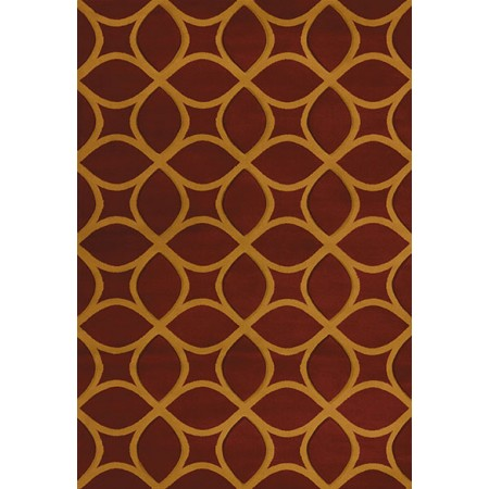 Isomer Burgundy Area Rug - Transitional Style Area Rug