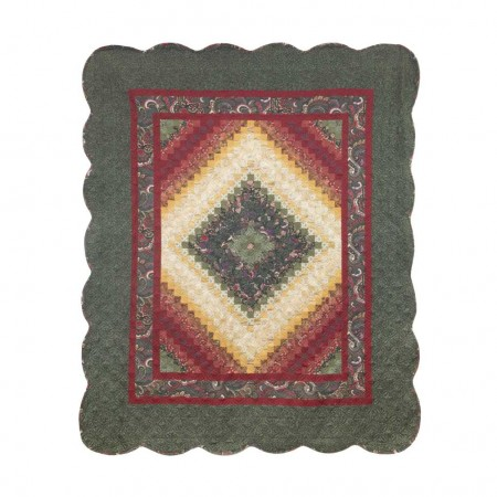 Donna Sharp Spice Postage Stamp Throw
