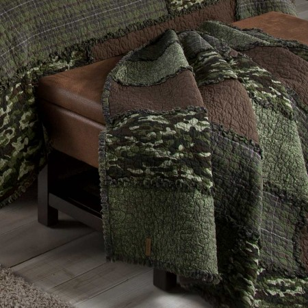 Donna Sharp Camo Cobblestone Throw