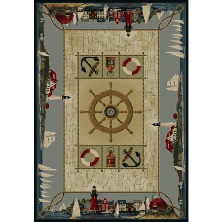 Seascapes Blue Area Rug - Nautical Style