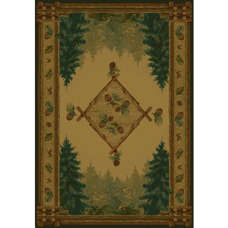 Forest Trail Lodge Area Rug - Cabin Style Area Rug