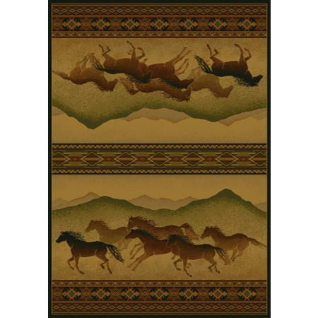 Chestnut Mare Lodge Area Rug - Cabin Style Area Rug