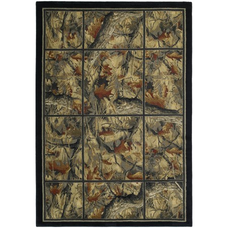 Camouflage Grid Area Rug - Cabin Style Area Rug