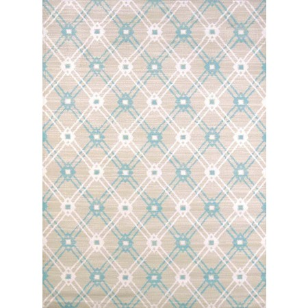 Trellis Blue Area Rug - Traditional Style Area Rug
