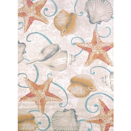 Stars And Shells Area Rug - Coastal Style Area Rug