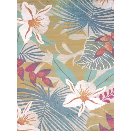 Flower Jungle Area Rug - Coastal Style Area Rug
