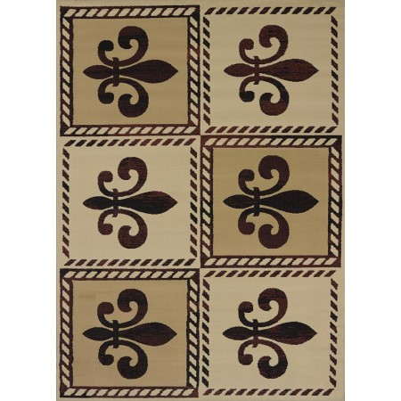 Patchwork Fleurdlys Area Rug - Traditional Style Area Rug