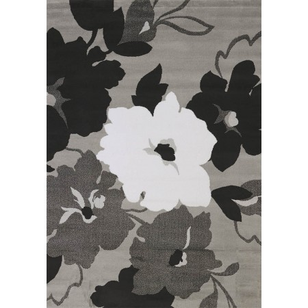 Snow Blossom Grey Area Rug - Transitional Style Area Rug