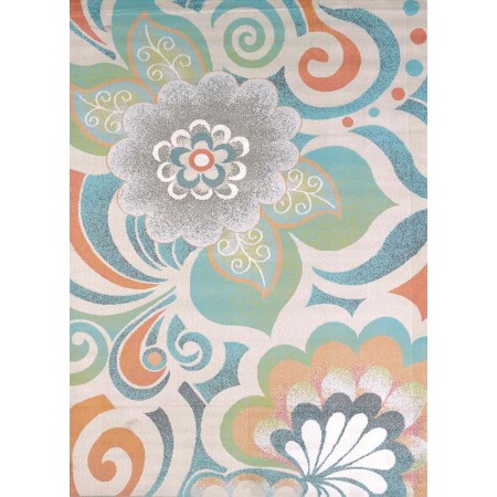"Lace Tropical Area Rug (94"" X 126"")"