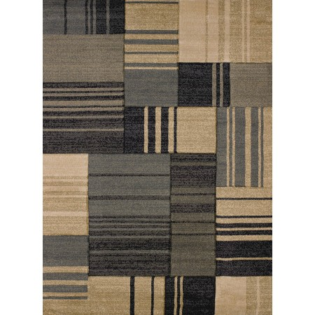 Line Drive Blue Area Rug from the Urban Galleries Collection
