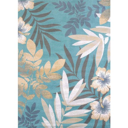 Sea Garden Blue Area Rug - Transitional Style Area Rug
