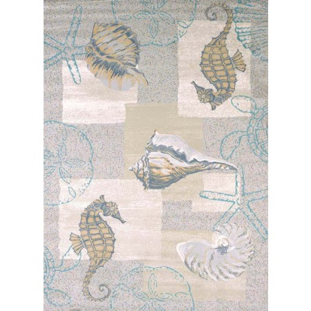 Mystic Sea Natural Area Rug - Coastal Style Area Rug