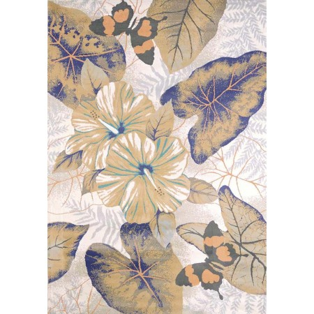 Caladiums Natural Area Rug - Coastal Style Area Rug