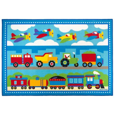 Trains, Planes, Trucks 39in X 58in Rug by Olive Kids