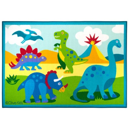 Dinosaur Land 39in X 58in Rug by Olive Kids