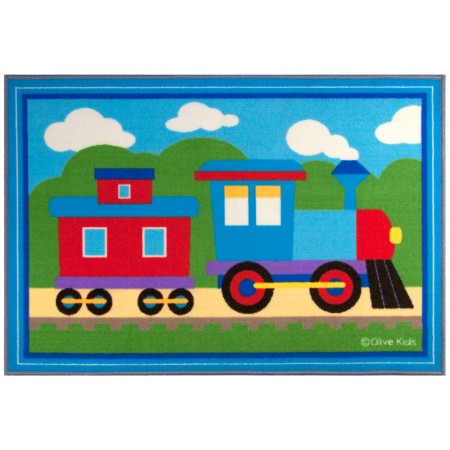 Olive Kids Trains, Planes, Trucks 31.5x45 in. Rug