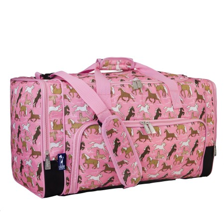 Horses in Pink Weekender Duffel Bag