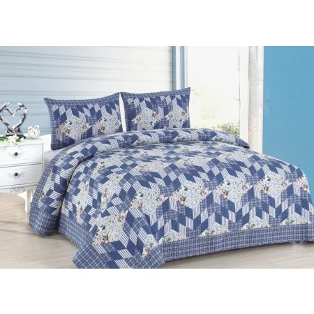 Romantic Stairs King Size Quilt Set - Includes 2 Standard Pillow Shams