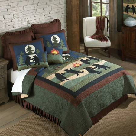 Donna Sharp Bear Dance Twin Size Quilt - 68 X 90