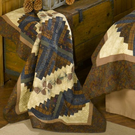 Donna Sharp Cabin Raising Pinecone Throw - 60 X 60