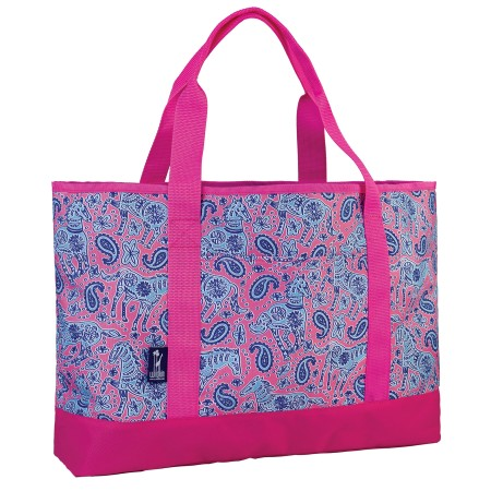 Watercolor Ponies Pink Tote-All