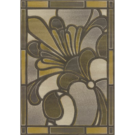 Frosted Pane Grey Area Rug - Transitional Style Area Rug