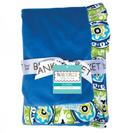RECEIVING BLANKET - RUFFLE TRIMMED WAVERLY