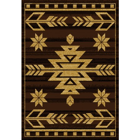 Teton Brown Area Rug - Traditional Style Area Rug
