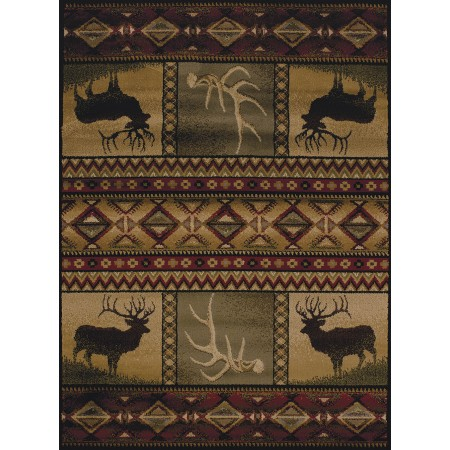Hunter's Dream Area Rug - Cabin Style Area Rug