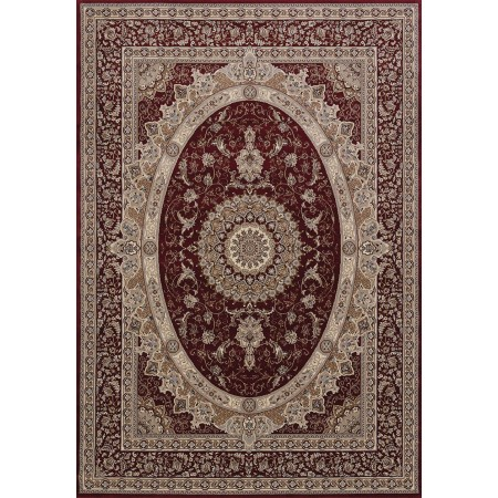 Yves Red Area Rug - Traditional Style Area Rug