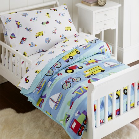 Olive Kids On The Go 4 piece Toddler Size Bed in a Bag Set