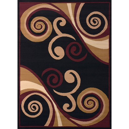 Billow Burgundy Area Rug - Transitional Style