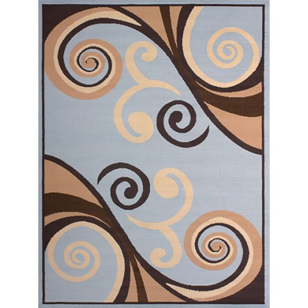 Billow Blue Area Rug - Transitional Style