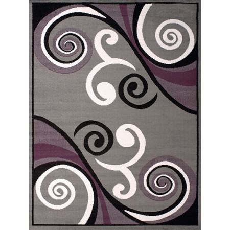 Billow Grey Area Rug - Transitional Style