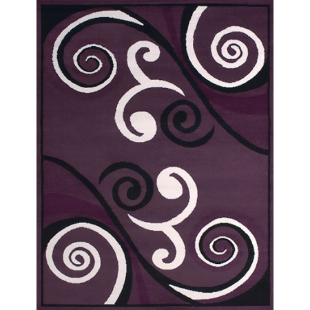 Billow Plum Area Rug - Transitional Style