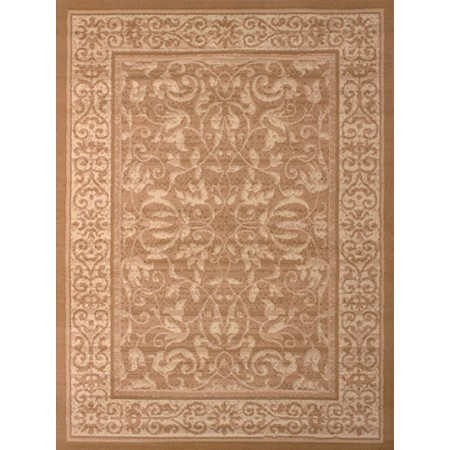 Baroness Beige Area Rug - Traditional Style