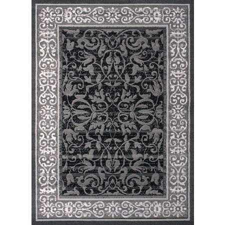 Baroness Grey Area Rug - Traditional Style