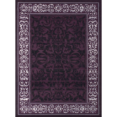 Baroness Plum Area Rug - Traditional Style