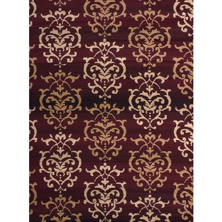 Countess Burgundy Area Rug - Transitional Style