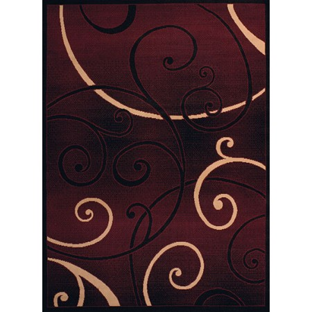 Bangles Burgundy Area Rug - Transitional Style Area Rug