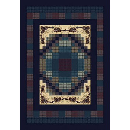 """Gingham Pine Accent Rug (22"""" X 36"""")"""